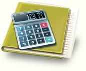 Calculator on top of paperwork